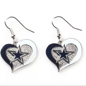NFL Licensed Dallas Heart Earrings